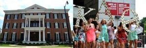 The Alpha Gamma Delta (house above, left) and Kappa Alpha Theta sororities have offered bids to African American female students at the University of Alabama. (al.com)